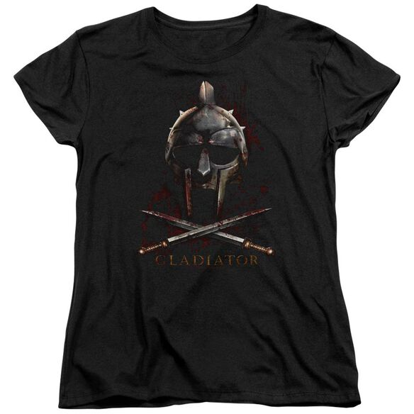 Gladiator Helmet Short Sleeve Womens Tee T-Shirt