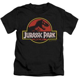 Jurassic Park Classic Logo Short Sleeve Juvenile Black T-Shirt