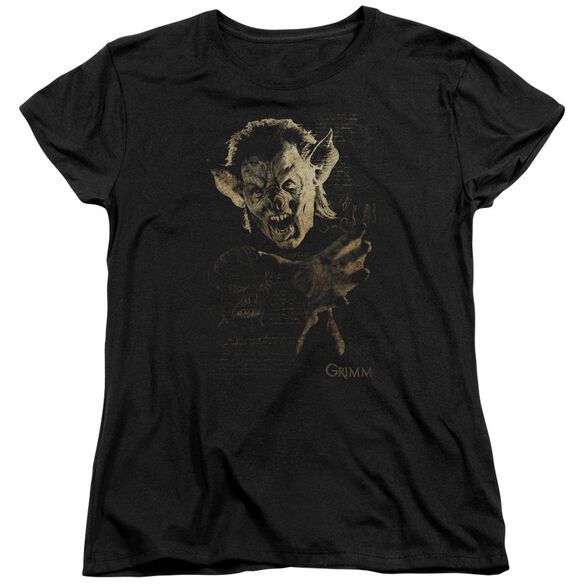 Grimm Murcielago Short Sleeve Womens Tee Black Black T-Shirt