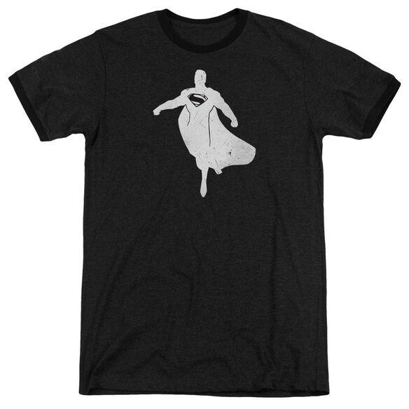 Batman V Superman Superman Silhouette Adult Heather Ringer