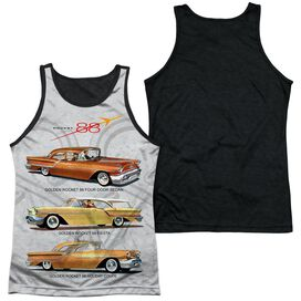Oldsmobile Rocket Line Adult Poly Tank Top Black Back