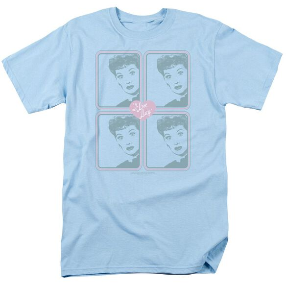 I Love Lucy Lucy Squared Short Sleeve Adult Light Blue T-Shirt
