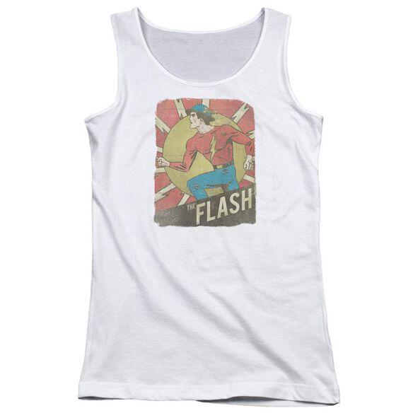 Dc Flash Tattered Poster Juniors Tank Top