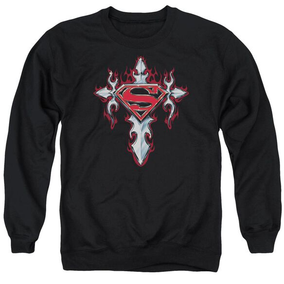 Superman Gothic Steel Logo Adult Crewneck Sweatshirt