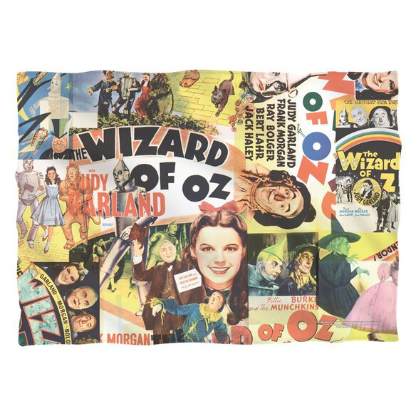 Wizard Of Oz Collage Poly 20 X28 Pillow Case White