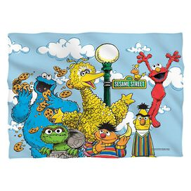 Sesame Street Retro Gang (Front Back Print) Pillow Case