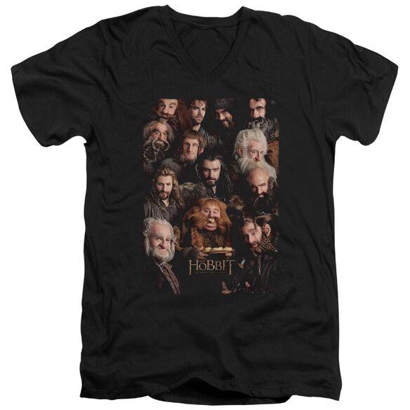 The Hobbit Dwarves Poster Short Sleeve Adult V Neck T-Shirt