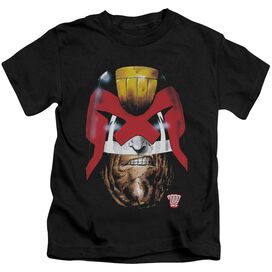 Judge Dredd Dredd's Head Short Sleeve Juvenile Black T-Shirt