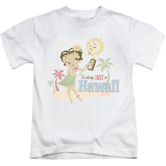 Betty Boop Hot In Hawaii Short Sleeve Juvenile White Md T-Shirt