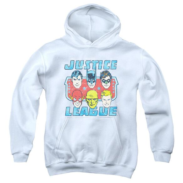 Dc Faces Of Justice Youth Pull Over Hoodie
