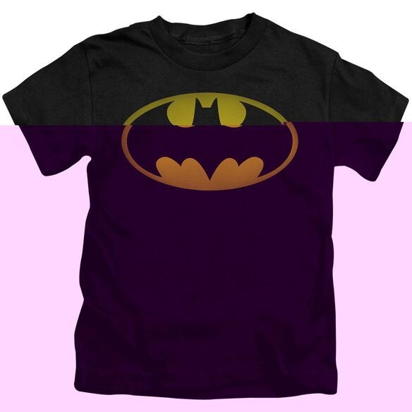 Batman Washed Bat Logo Short Sleeve Juvenile Black Md T-Shirt