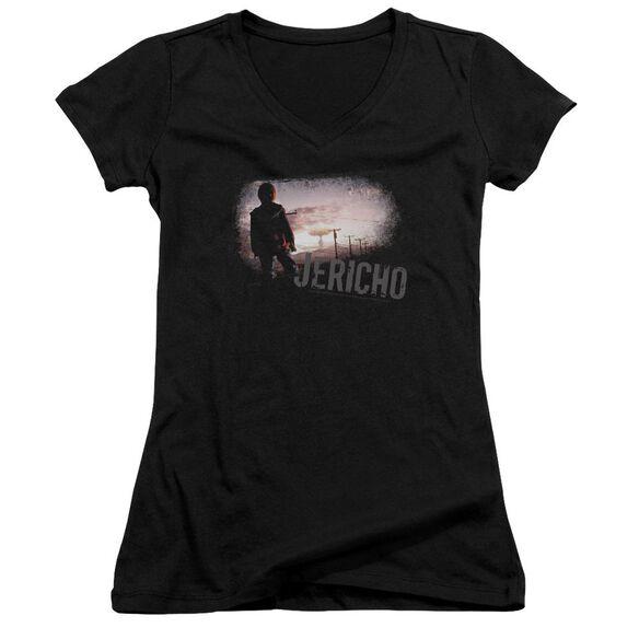 Jericho Mushroom Cloud Junior V Neck T-Shirt