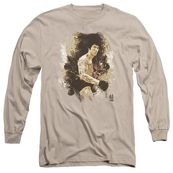 Bruce Lee Intensity Long Sleeve Adult T-Shirt
