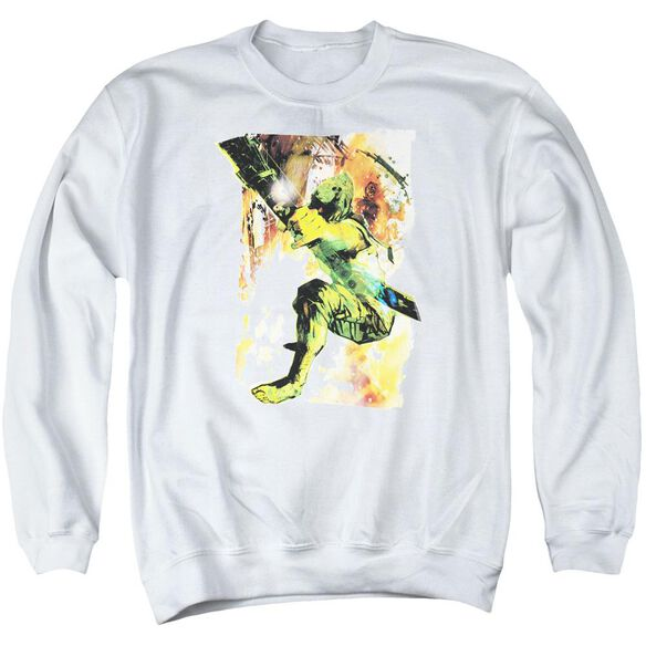Jla Painted Archer Adult Crewneck Sweatshirt