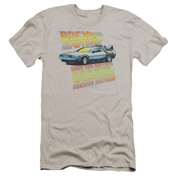 Back To The Future 88 Mph Premuim Canvas Adult Slim Fit