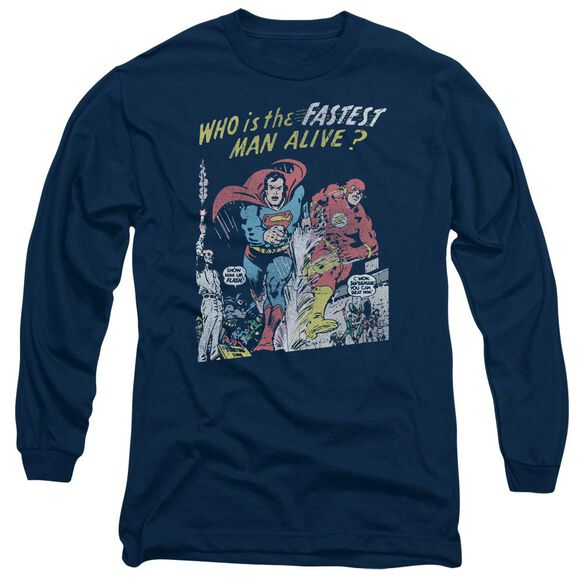 Jla Fastest Man Long Sleeve Adult T-Shirt