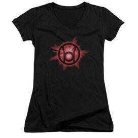 Green Lantern Red Glow Junior V Neck T-Shirt