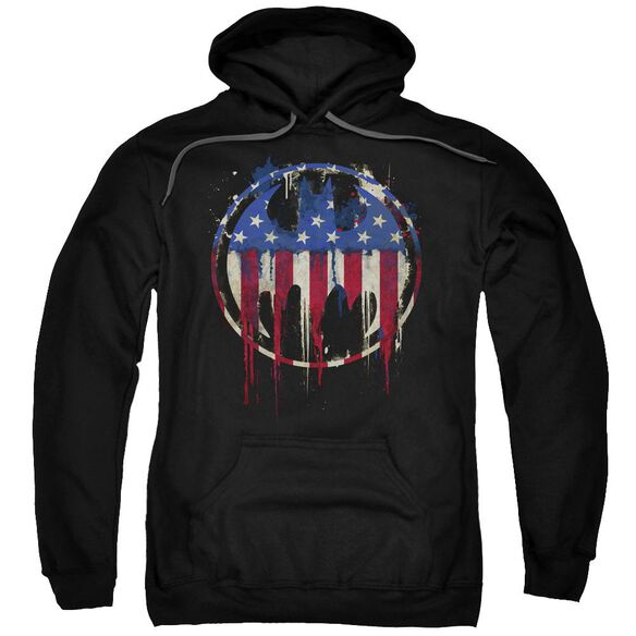 Batman Bleeding Signal Adult Pull Over Hoodie