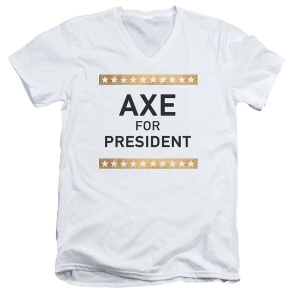 Billions Axe For President Short Sleeve Adult V Neck T-Shirt
