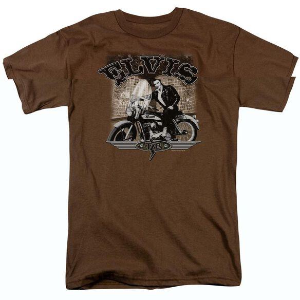 Elvis Presley Tcb Cycle Short Sleeve Adult T-Shirt