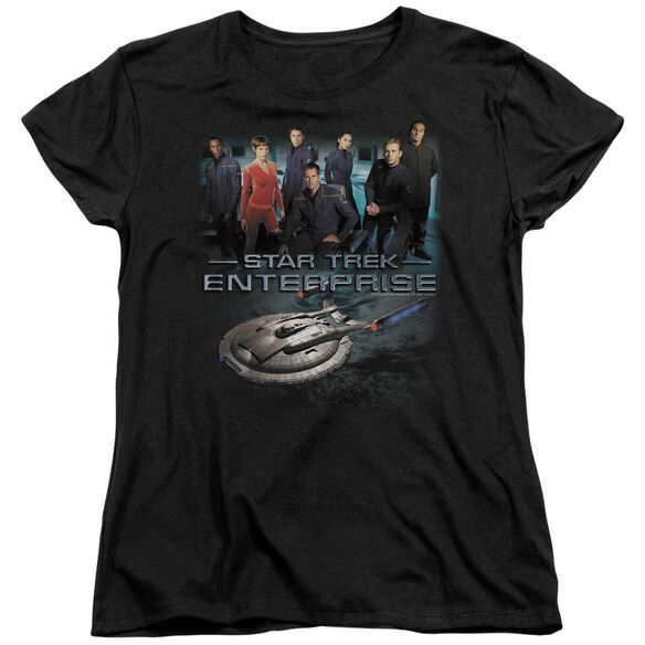 STAR TREK ENTERPRISE CREW - S/S WOMENS TEE - BLACK T-Shirt