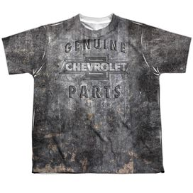 Chevrolet Metal Bowtie Short Sleeve Youth Poly Crew T-Shirt