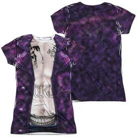 Suicide Squad Joker Costume (Front Back Print) Short Sleeve Junior Poly Crew T-Shirt