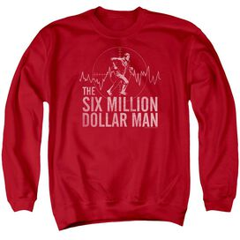 Six Million Dollar Man Target Adult Crewneck Sweatshirt
