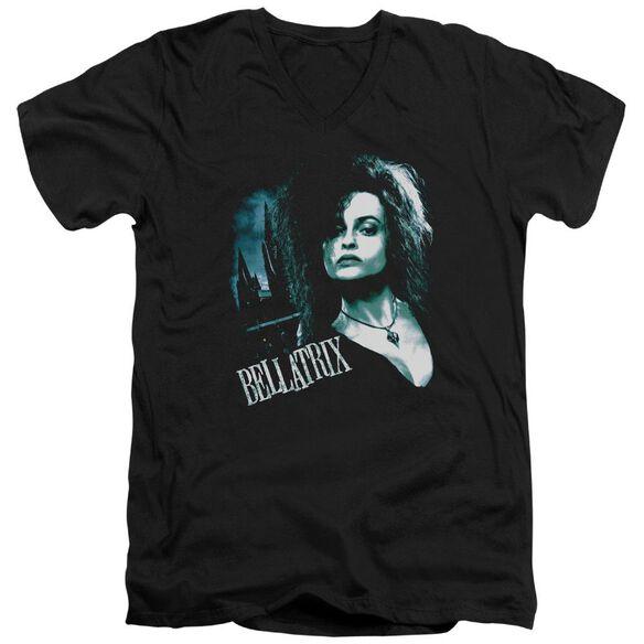 Harry Potter Bellatrix Closeup Short Sleeve Adult V Neck T-Shirt