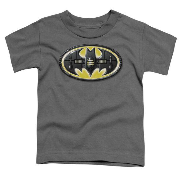 Batman Bat Mech Logo Short Sleeve Toddler Tee Charcoal Md T-Shirt