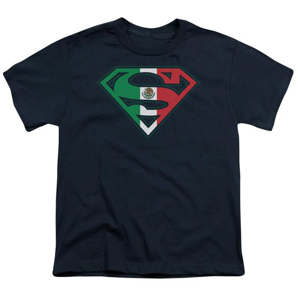 Superman Mexican Shield Short Sleeve Youth T-Shirt