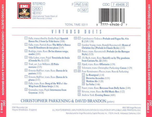 Virtuoso Duets 0990