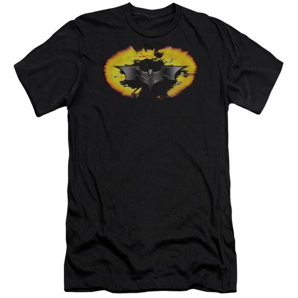 Dark Knight Armor Logo Explosion Short Sleeve Adult T-Shirt