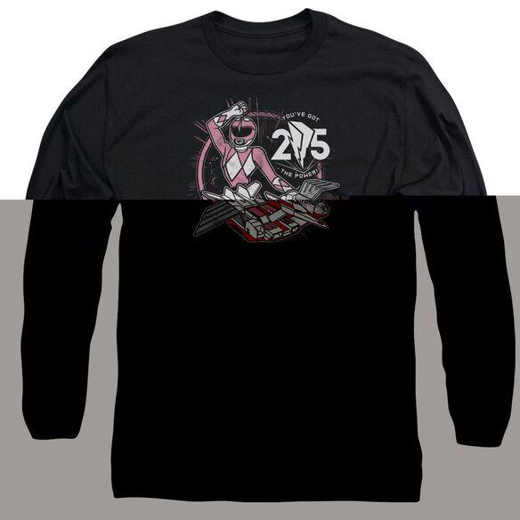 Power Rangers Pink 25 Long Sleeve Adult T-Shirt