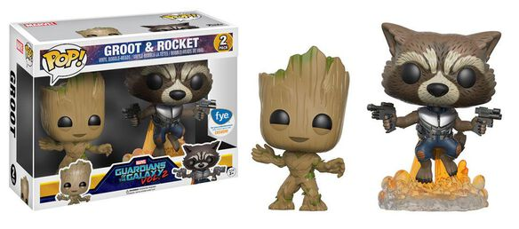 Exclusive Guardians of the Galaxy, Vol. 2 Groot & Rocket 2 Pack FUNKO POP!