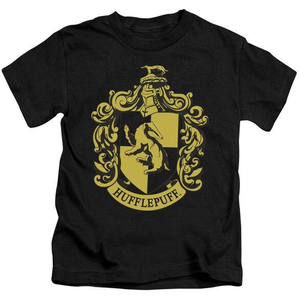 Harry Potter Hufflepuff Crest Short Sleeve Juvenile T-Shirt