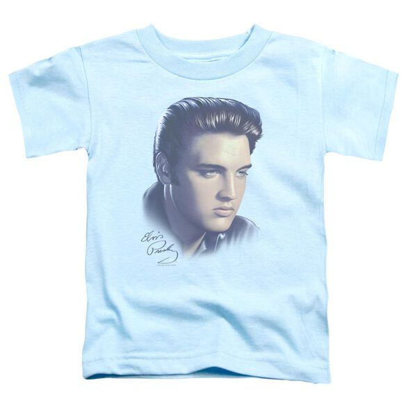 Elvis Big Portrait Short Sleeve Toddler Tee Light Blue Lg T-Shirt