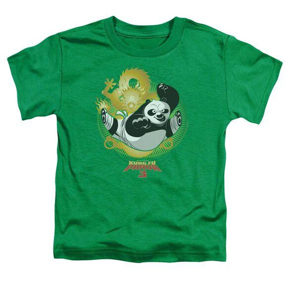 Kung Fu Panda Drago Po Short Sleeve Toddler Tee Kelly Green T-Shirt