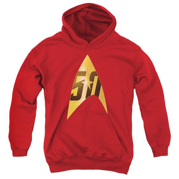 Star Trek 50 Th Anniversary Delta Youth Pull Over Hoodie
