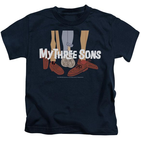 MY THREE SON HOES LOGO - S/S JUVENILE 18/1 - NAVY - T-Shirt