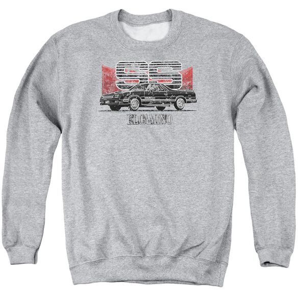 Chevrolet El Camino Ss Mountains Adult Crewneck Sweatshirt Athletic
