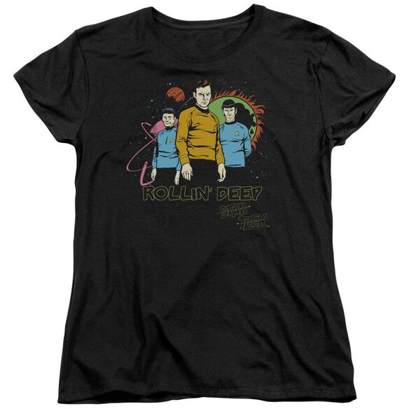 Star Trek Rollin Deep Short Sleeve Womens Tee T-Shirt