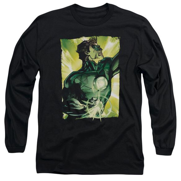 Green Lantern Up Up Long Sleeve Adult T-Shirt