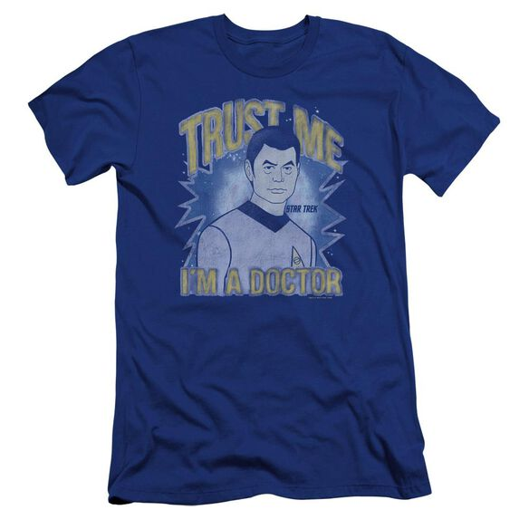 Star Trek Doctor Premuim Canvas Adult Slim Fit Royal