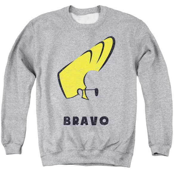 Johnny Bravo Johnny Hair Adult Crewneck Sweatshirt Athletic