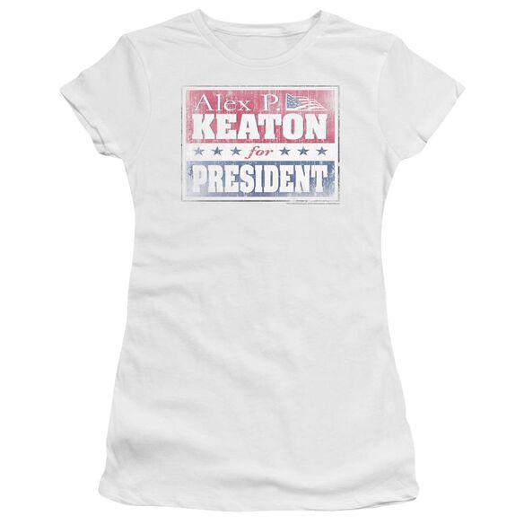 FAMILY TIES ALEX FOR PRESIDENT - S/S JUNIOR SHEER - WHITE T-Shirt