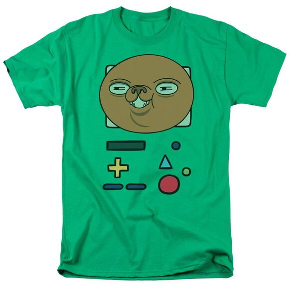 Adventure Time Bmo Mask Short Sleeve Adult Kelly T-Shirt