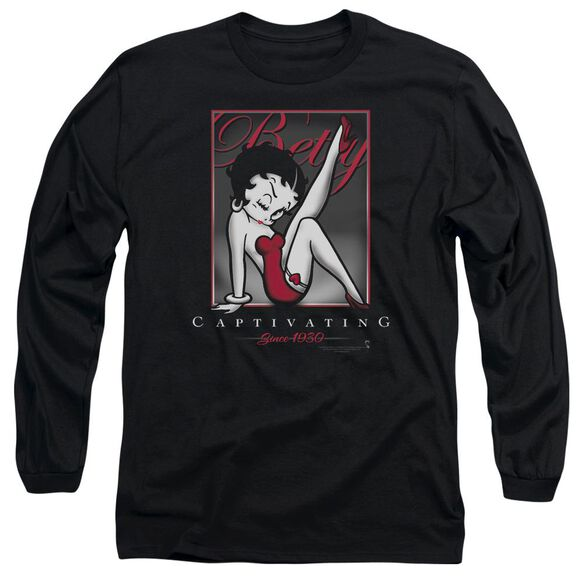 Betty Boop Captivating Long Sleeve Adult T-Shirt
