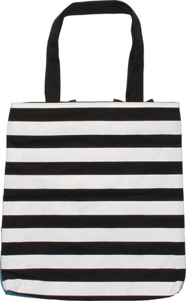 Jaws Poster Striped Tote Bag