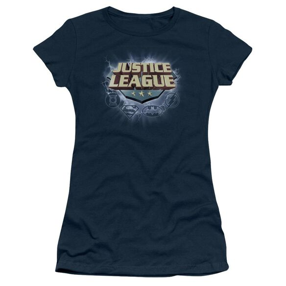 Jla Storm Logo Short Sleeve Junior Sheer T-Shirt